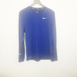 Nike Dri Fit Countour Long Sleeve Running Shirt